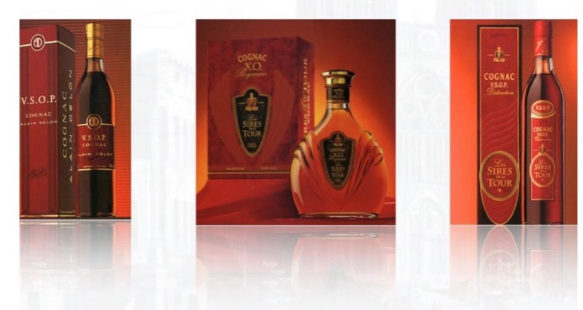 Cognac XO . VSOP and VS